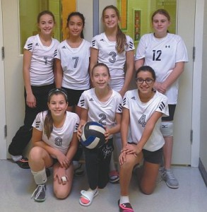 Pictured above are is the Ecole Heritage Mini-Lynx volleyball team, winner of the consolation final at Ecole des Quatre-Vents in Peace River during Oct. 23-24. In front, from left, are Mia Maisonneuve, Gabriel Velie and Meera Sylvain. In back, from left, are Hannah Dion, Trista Boissoneault, and Tenille Guérette and Amber Labrecque.