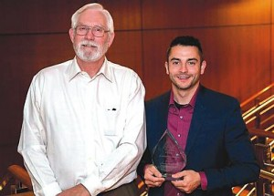 Northern Lakes College students Darren Mangin, left, and James Gunn, both won awards at the 2015 Capstone Awards Ceremony in Vancouver, B.C. on Sept. 23.