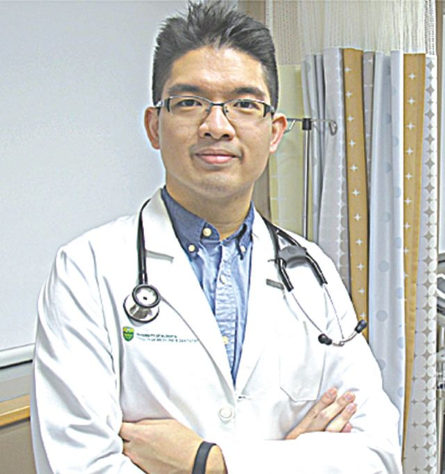 Pictured to the right is Medical Student Colin Siu.