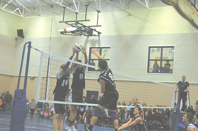 The Ecole Heritage Lynx had to battle for their points in the championship game on Nov. 28. But they won against the Living Waters Christian Academy Warriors in sets of 27-25 and 25-22, taking the gold medal and the banner.