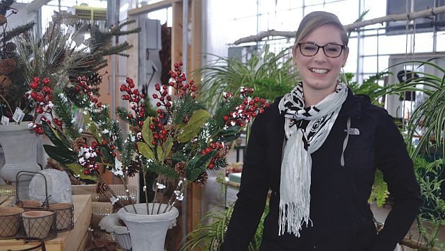 Owner of Christie's Gardens and Greenhouses, Christie Pollack.