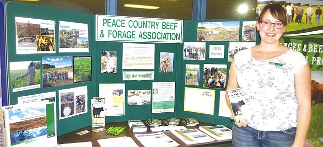 Peace Country Beef and Forage Association crop program co-ordinator Kaitlin McLachlan promotes projects such as riparian areas, during riparian seminar in High Prairie on Feb. 3.