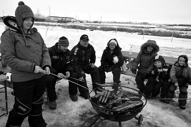There's nothing like roasting hot dogs over an open fire and huddling in the balmy winter air.