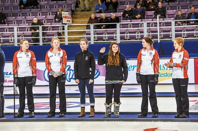 Anna Desharnais, representing Team Newfoundland and Labrador, at Revolution Place in Grande Prairie on Feb. 22.  All photos courtesy of William Vavrek Photography