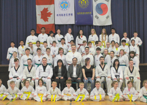 SPORTS – Participants at Donnelly belt graduation ceremony marshalling the art of taekwondo