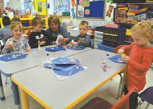 Getting children ready for preschool, kindergarten at Ecole Heritage