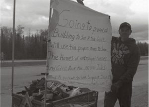 Dubrule is walking to save his home and is also advocating for the many Albertans that are about to lose their homes