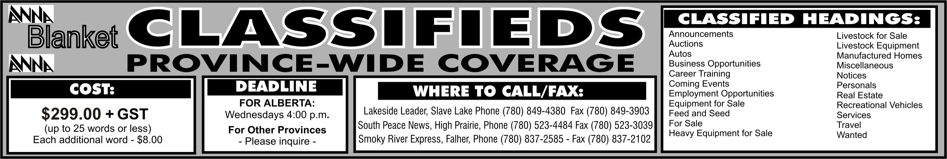 Classifieds - Smoky River Peace River Express