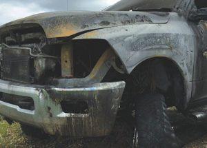 Lightning strikes truck, but no injuries