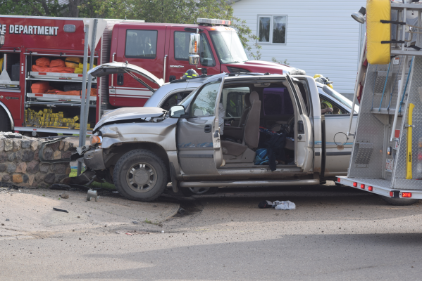 Several people were injured in a two-vehicle collision in Falher on June 6. One person was transported by STARS air ambulance for treatment, and the others went to the Sacred Heart Community Health Centre in McLennan for treatment. Look for a story and photos in this week's Smoky River Express.