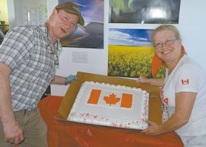 Red Hatters lead in Falher's Canada Day celebration