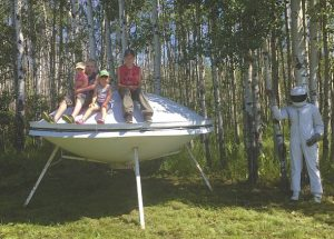 PIC – UFO lands on a farm in Tangent along the Hi-way