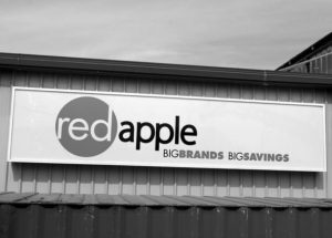 PICs – Conversion from 'The Bargain! Shop' to 'Red Apple' continues