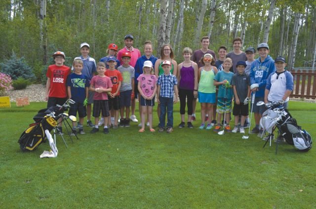 The junior golf program wrapped up at the 5 Star Golf Club on Aug. 20. While the older youth played 18 holes, the other players learned some putting lessons from Dave Chapados. Later, they went out on the course to play a few holes.