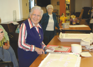 A farewell tea for Sister Dolores,  the last remaining Sister of Providence to leave McLennan