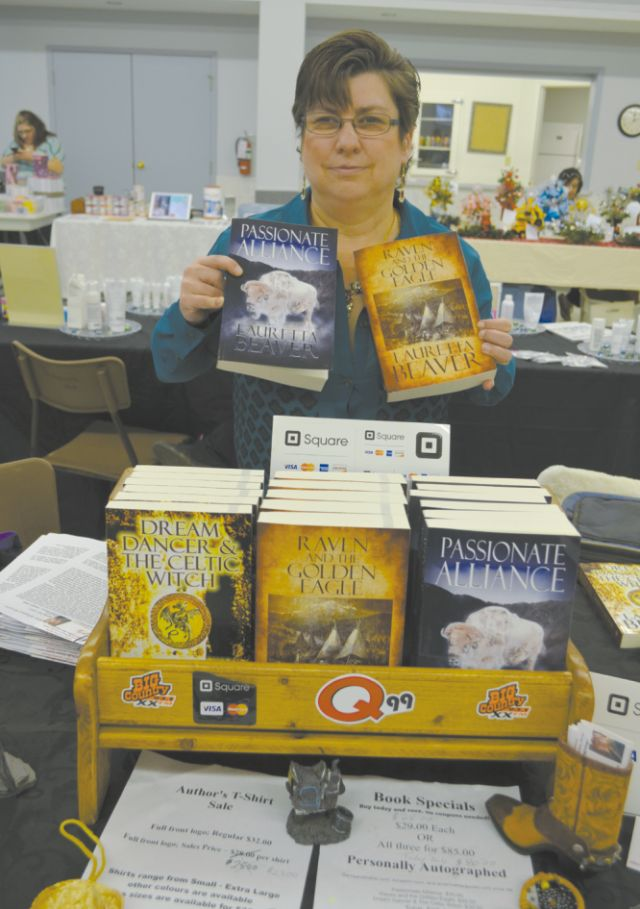 Loretta Beaver, author of the 'White Buffalo (New Beginnings Series). The three books in the series she had for sale include 'Passionate Alliance', 'Raven and the Golden Eagle'. and 'Dream Dancer'. A fourth book, 'Shadowns and Illusions', will be released in the near future.