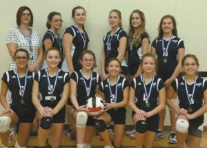 PICs – Heritage junior volleyball teams win medals in Peace River during Oct. 14-15