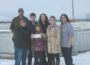PIC – Farm Credit Canada donates $10,000 to outdoor skating rink project
