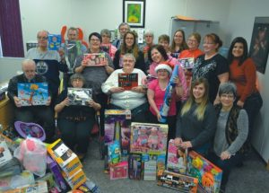 Friendship Corner members demonstrate their generosity to the Smoky River FCSS' Christmas Voucher Program