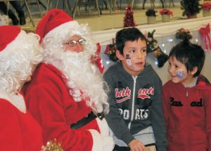 Despite the weather, McLennan Santa Day offered a warm, fun atmosphere