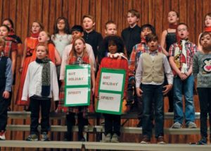 The spirit of Christmas at Ecole Routhier's English concert