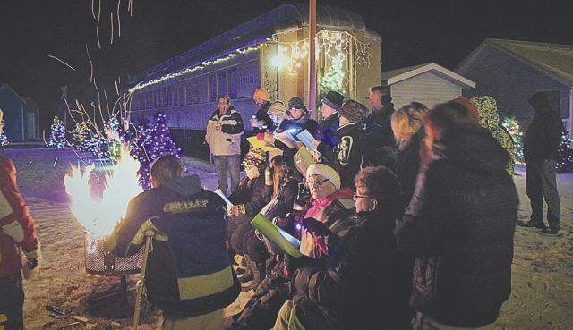The third annual Light Up Christmas event at McLennan Railway Museum, December 1