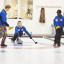 Action photos of the Farmers' Bonspiel