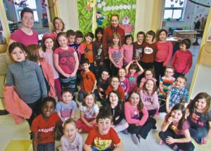 PIC – Pink Power! Students send their anti-bullying message
