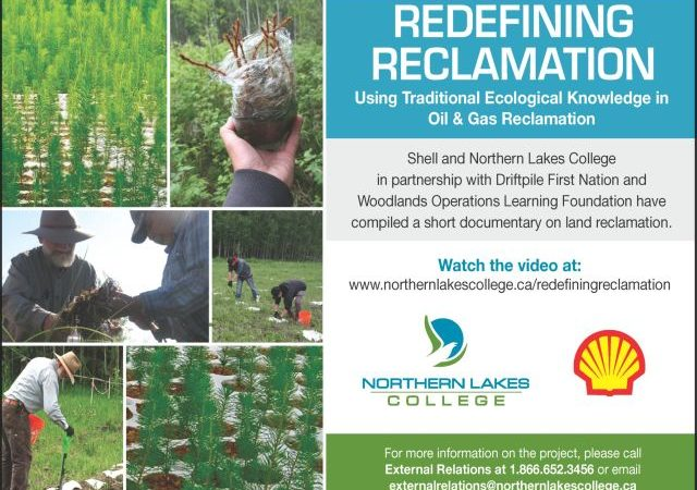 Redefining Reclamation: using traditional ecological knowledge in oil & gas reclamation