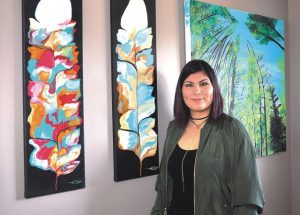 Self-taught artist making her mark