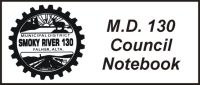 Council notebook for the M.D. of Smoky River No. 130
