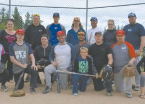 PICs – 'Balz & Mittz' team takes first place at Honey Festival's slow pitch tournament