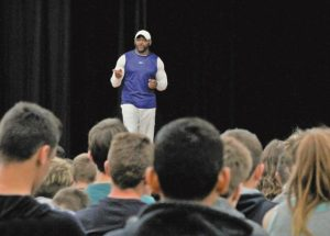"Canadian Football Hall of Fame member and motivational speaker, Henry L.""Gizmo"" Williams visits the region"