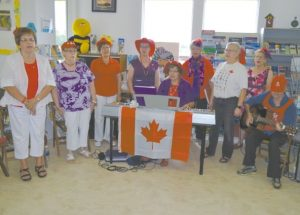 Red Hatters lead the Canada Day celebration in Falher