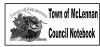 Town of McLennan Council Notebook – February 11