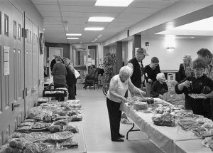 """People from across the region come out to show their support for Manoir du Lac's """"Harvest Tea and Bake Sale"""""""