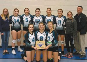 GPV senior volleyball teams bring home consolation plaques from the Peace Classic