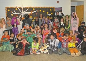 Providence students have a scary, fun time at Halloween