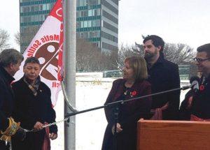 Metis raise flag to celebrate history with Alberta