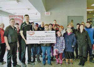 New Horizon Co-op presents $10,000 cheque to Falher Friendship Corner Association