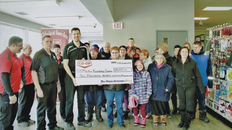 New Horizon Co-op presents $10,000 cheque to Falher Friendship Corner Association