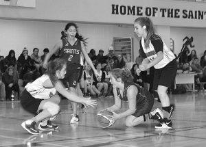 GPV Vipers junior basketball teams play against Saints in High Prairie