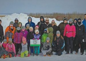 "Thirty-three runners celebrate Family Day by taking part in the first annual ""Royal Purple Elks Frosty Family Fun Run"""