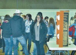 G.P. Vanier Grade 7 and 8, science fair exhibit presents a wide variety of scientific enquiry