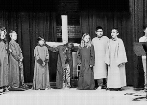 "Ecole Providence Grade 3 and 4 students demonstrate ""The True Meaning of Easter"""