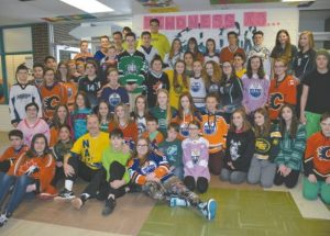 PICs – Students and staff at Georges P. Vanier participate in Jersey Day