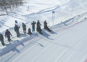 32 people participate in snow cross event at the Little Smoky Ski Hill