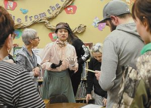 """""""Live History"""" draws ideal crowd for interactive theatre events at McLennan Library"""