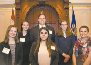 Ecole Heritage student learns about Alberta government processes