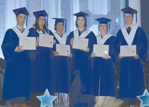 Six Ecole Heritage students nearly ready to enter the world, church service & banquet held